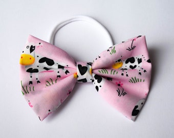 Pink Cow Classic Bow