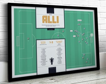 Football Print, Dele Alli Print, Spurs Print, Football Gifts, Football Art