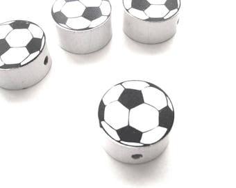 Wooden soccer ball bead