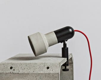 D - Concrete Clip Lamp, Table Lamp