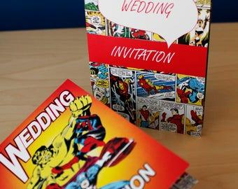 Comic Strip / Cartoon Wedding Invitation