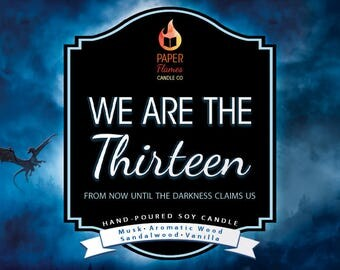 We Are The Thirteen - Hand-Poured Soy Wax Candle Inspired By The Throne Of Glass Series