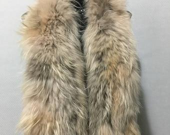 Beautiful Salmon Fox Fur Collar & Scarf
