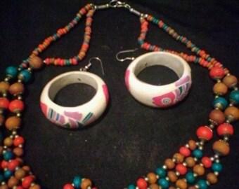 African Handmade jewelry set