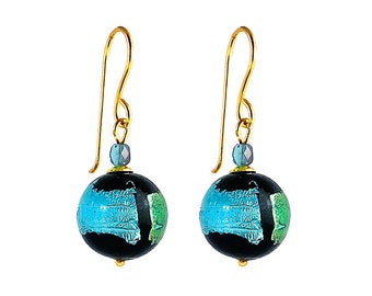Murano Glass Earrings by I Love Murano 'Sea Jewel', Murano Glass Earrings, Murano Earrings, Venetian Glass Earrings