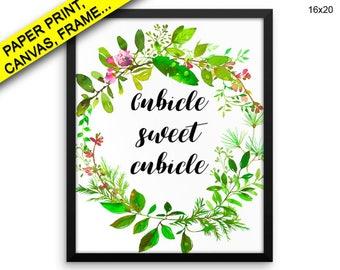 Cubicle Sweet Cubicle Printed Poster Cubicle Sweet Cubicle Framed Cubicle Sweet Cubicle Office Art Cubicle Sweet Cubicle Office Canvas Print