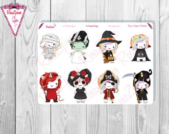 Pixie Unicorn Die Cuts or Stickers - Halloween