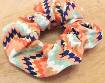 Colorful Bohemian Aztec style, scrunchie, accessory hair hair fashion, feminine accessory for hair