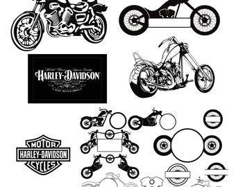 Motorcycle svg Harley Davidson svg Decal svg files Harley Davidson Logo svg eps png dxf t shirt design bike svg digital cut file svg