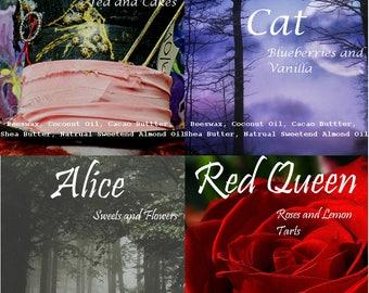 Alice in Wonderland Natural Lipbalms