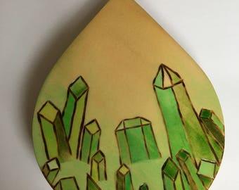 Wood Burned•Crystal•Coaster or HomeDecor•