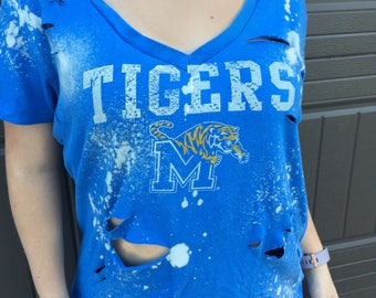 Memphis Tigers Distressed Shirt