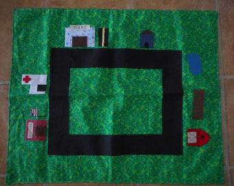 Homemade fabric car mat