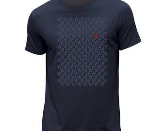 Cute star navy allover T-shirt