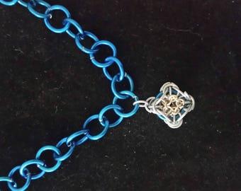 NBR pendant on blue adjustable chain