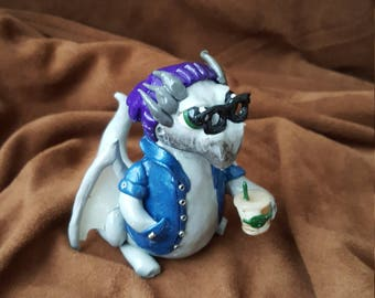 Hipster Polymer Clay Dragon