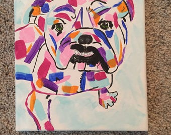 Colorful dog Canvas Painting