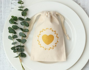 50 personalized Logo print custom natural beige cotton drawstring pouches bags rustic wedding favor bags jewelry packaging bags pouches