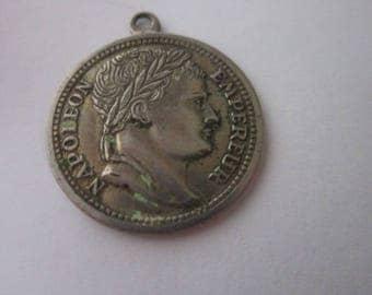 Vintage Faux Napoleon Empereur Coin Charm Bracelet Charm