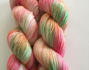Hand dyed yarn. SW virgin wool/ nylon. ANTHE
