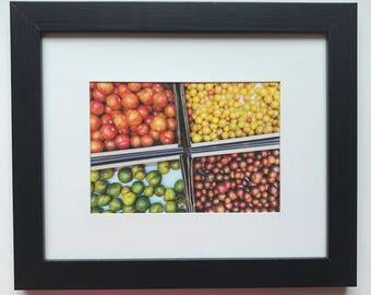 FOOD PHOTOGRAPHY PRINT - farmers market produce art - kitchen art - fine art print - tomatoes - charleston farmers market
