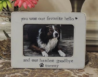 pet memorial frame etsy - Dog Memorial Frame