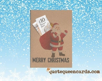 SANTA Christmas money/voucher/gift/ticket wallet & envelope for family and corporate gift ideas , Money Wallet