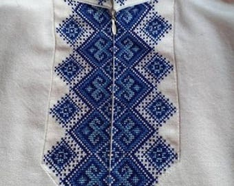 Modern Embroidered Shirt for Boys +POSTCARD Vyshyvanka Shirt with Zipper  Ukrainian Handmade Embroidered patterns