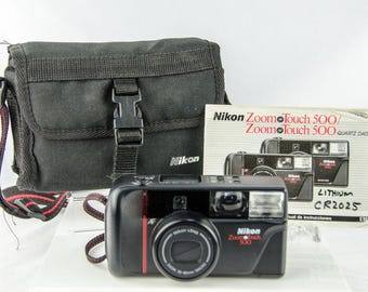 Very Clean Vintage Nikon Zoom Touch 500 Camera