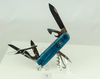 Victorinox Swiss Army Knife Translucent Blue Climber Model