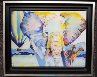Painting Africa Morgane Monnet, print on plexiglass, signed by the artist
