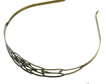 Bridesmaid, Wedding accessories, antique brass, bridal headband, nickel free, handmade jewelry