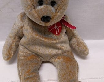 Very Rare 1999 Signature Bear Beanie Baby Hologram tagged