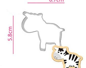 Dairy Cow Cookie Cutter - Animal Fondant Biscuit Mold - Pastry Baking Tool Set