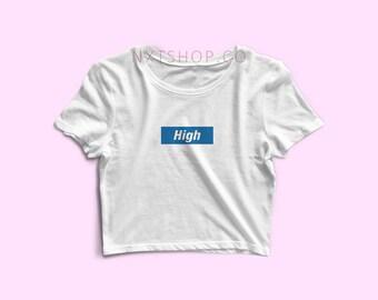High Crop Top (White)