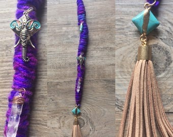 Handmade Hair Wrap- One of a Kind Clip In Hair Wrap Extension