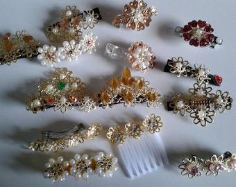 300 Mixed style hair clips, Hair clips, hair combs, hair accessories, hair jewelry, hair barretes, wholesale lot, hair accessory lot