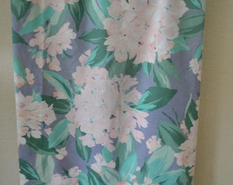 Vintage Sheet Full Percale Utica Pink Blue Green Floral