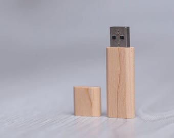 USB stick 2.0 wooden -  16 or 32GB