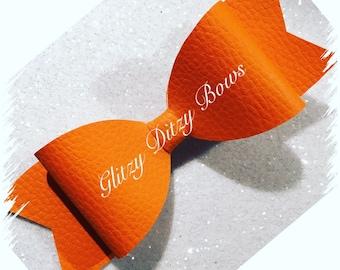 Orange Hair Bow Large