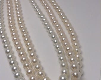 Vintage Faux Pearl Necklaces - Lot of 3