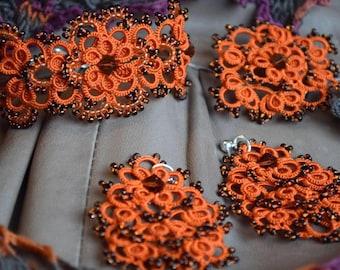Jewellery, Jewellery Set, jewelry, Necklaces, Earrings, brooch,  gift for Women , Gift, Gift for girls, Tatting Bracelet, Fine Jewellery