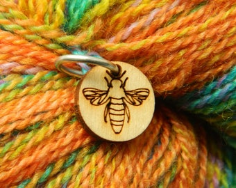 Bee Ring Stitch Markers - Set of 6