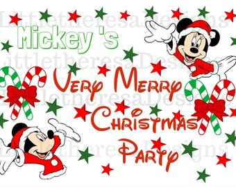 Mickey's Very Merry Christmas Party Transfer,Digital Transfer,Digital Iron On,DIY