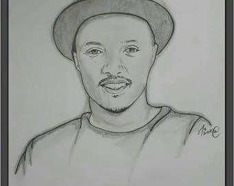 """""""Soprano"""" pencil portrait"""