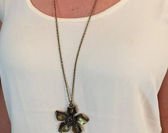 ON SALE Bronze Bloom Necklace