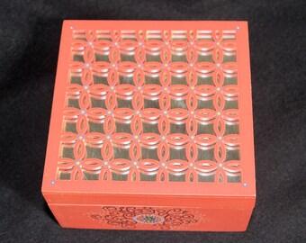 Box (Orange) - Hand Painted