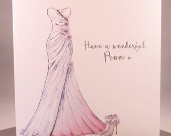 Luxury Prom Night Card - Prom Dress for daughter granddaughter niece sister