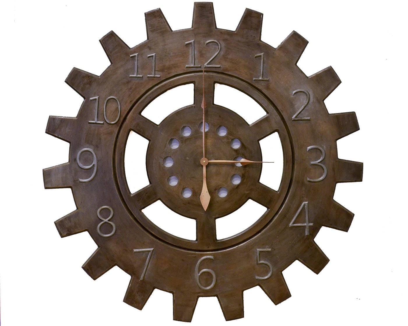 48 Gear Wall Clock Custom Wall Clock Bronze Wall Clock