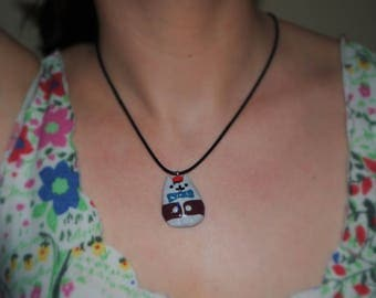 Cute 11th Doctor Pusheen necklace